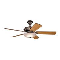 Kichler 330005OBB Bentzen 52 inch Oil Brushed Bronze with Medium Cherry/Dark Walnut Blades Ceiling Fan