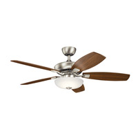 Kichler 330013NI Canfield Pro 52 inch Brushed Nickel with Cherry/Walnut Blades Ceiling Fan