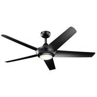 Kichler 330089SBK Kapono 52 inch Satin Black Ceiling Fan
