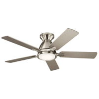 Kichler 330090BSS Arvada 44 inch Brushed Stainless Steel with SILVER/WALNUT Blades Ceiling Fan photo thumbnail