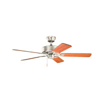 Kichler 330100NI Renew 50 inch Brushed Nickel with Cherry MS-5291 Blades Fan in Walnut / Cherry