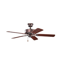Renew 50 inch Oil Brushed Bronze with Walnut MS-97503 Blades Fan in Walnut / Cherry