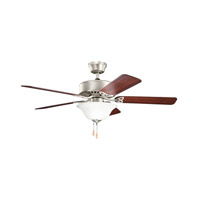 Renew Select Es 50 inch Brushed Nickel with Cherry MS-5291 Blades Fan in Satin Etched Glass