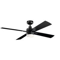 Kichler 330140SBK Lija 52 inch Satin Black with Satin Black/Silver Blades Ceiling Fan