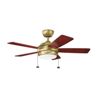 Kichler 330171NBR Starkk 42 inch Natural Brass with MEDIUM CHERRY/DARK CHERRY Blades Ceiling Fan alternative photo thumbnail