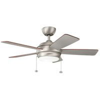 Kichler 330171NI Starkk 42 inch Brushed Nickel with SILVER/WALNUT Blades Ceiling Fan photo thumbnail