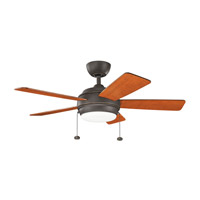 Kichler 330171OZ Starkk 42 inch Olde Bronze with Walnut Blades Ceiling Fan