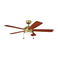 Kichler 330174NBR Starkk 52 inch Natural Brass with Medium Cherry Blades Ceiling Fan