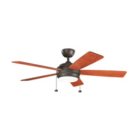 Starkk 52 inch Olde Bronze with Walnut Blades Ceiling Fan