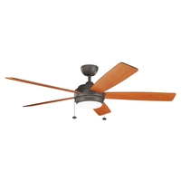 Kichler 330180OZ Starkk 60 inch Olde Bronze with Cherry Blades Ceiling Fan