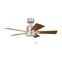 Kichler 330241NI Bowen 42 inch Brushed Nickel with Walnut Blades Ceiling Fan