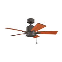 Kichler 330241OZ Bowen 42 inch Olde Bronze with WALNUT/CHERRY Blades Ceiling Fan