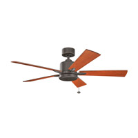 Kichler 330242OZ Bowen 52 inch Olde Bronze with Walnut Blades Ceiling Fan