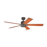 Kichler 330243OZ Bowen 60 inch Olde Bronze with Walnut Blades Ceiling Fan