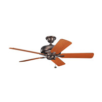 Terra 52 inch Oil Brushed Bronze with Walnut Blades Ceiling Fan