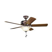 Kichler 330248OBB Terra 52 inch Oil Brushed Bronze with Walnut Blades Ceiling Fan alternative photo thumbnail