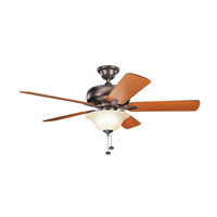 Kichler 330248OBB Terra 52 inch Oil Brushed Bronze with Walnut Blades Ceiling Fan photo thumbnail