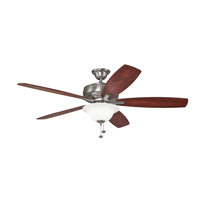Kichler 330250BAP Terra Select 60 inch Burnished Antique Pewter with Dark Cherry Blades Ceiling Fan in Bulb Not Included