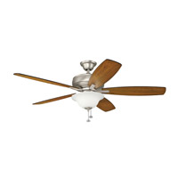 Kichler 330250NI Terra Select 65 inch Brushed Nickel with Silver Blades Ceiling Fan in Incandescent