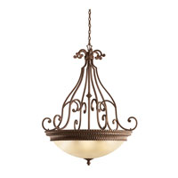 Kichler Lighting Larissa 6 Light Inverted Pendant in Tannery Bronze w/ Gold Accent 3314TZG thumb