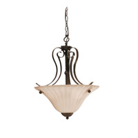 Kichler 3325TZ Willowmore 2 Light 16 inch Tannery Bronze Inverted Pendant Ceiling Light