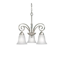 Kichler 3326NI Willowmore 3 Light 19 inch Brushed Nickel Chandelier Ceiling Light
