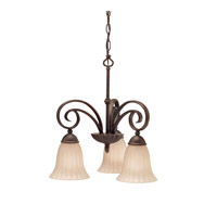 Kichler 3326TZ Willowmore 3 Light 19 inch Tannery Bronze Chandelier Ceiling Light