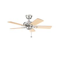 Kichler Lighting Sutter Place Fan in Brushed Stainless Steel 337013BSS
