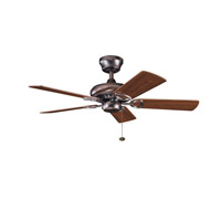 Kichler Lighting Sutter Place Fan in Oil Brushed Bronze 337013OBB