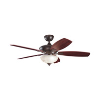 Kichler Lighting Canfield 2 Light Fan in Tannery Bronze 337016TZ photo thumbnail