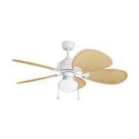 Kichler 380903MWH Signature 1 Light Matte White Fan Light Kit alternative photo thumbnail