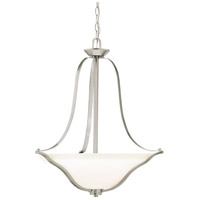 Kichler 3384NI Langford 3 Light 22 inch Brushed Nickel Inverted Pendant Ceiling Light