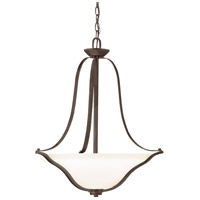 Kichler 3384OZ Langford 3 Light 22 inch Olde Bronze Pendant Ceiling Light