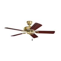 Sutter Place 52 inch Natural Brass with Cherry Blades Ceiling Fan