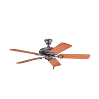 Kichler 339011OBB Sutter Place Oil Brushed Bronze with Walnut Ms97503 Blades Fan in Walnut / Cherry