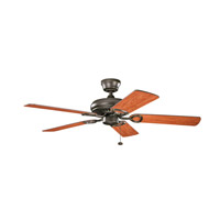 Kichler 339011OZ Sutter Place 52 inch Olde Bronze with Cherry MS-5291 Blades Fan in Medium Cherry/Walnut