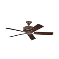 Kichler Lighting Saxon Fan in Tannery Bronze with Teak and Cherry Reversible Blades (not pictured) 339012TZ