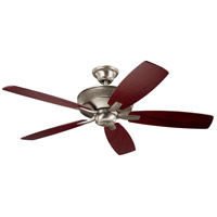 Monarch II 52 inch Burnished Antique Pewter with Dark Cherry/Weathered White Walnut Blades Indoor Ceiling Fan