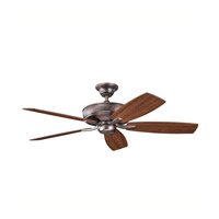Kichler 339013OBB Monarch II Oil Brushed Bronze with Walnut Ms-97503 Blades Fan