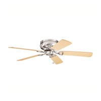 Stratmoor Brushed Stainless Steel with Lt Oak Ms-3590 Blades Fan