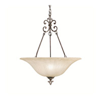 Kichler Lighting Wilton 3 Light Inverted Pendant in Carre Bronze 3391CZ