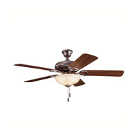 Kichler 339211OBB Sutter Place Select Oil Brushed Bronze with Walnut Ms97503 Blades Fan in Walnut/Medium Cherry