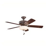 Kichler Lighting Saxon Select 1 Light Fan in Tannery Bronze 339212TZ photo thumbnail