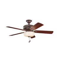 Kichler Lighting Saxon Select 1 Light Fan in Tannery Bronze 339212TZ