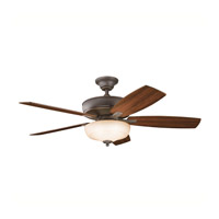 Kichler 339213OZ Monarch II Select Olde Bronze with Walnut/Light Cherry Blades Fan