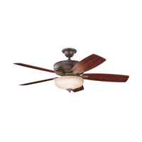 Kichler Lighting Monarch II Select 1 Light Fan in Tannery Bronze 339213TZ