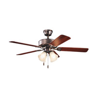 Kichler 339240OBBU Renew Premier 50 inch Oil Brushed Bronze with Walnut MS-97503 Blades Fan in Umber Etched Glass