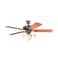 Kichler 339400OBB Sutter Place Premier Oil Brushed Bronze with Walnut Ms97503 Blades Fan