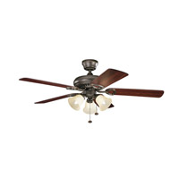 Kichler 339400OZ Sutter Place Premier 52 inch Olde Bronze with Walnut MS-97503 Blades Fan