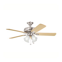 Kichler Lighting Saxon Premier 4 Light Fan in Brushed Stainless Steel 339401BSS